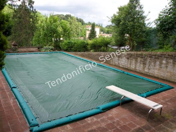 Teli copertura piscina telo invernale per piscina teloni for Teli per piscine